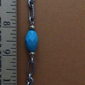 Beautiful David Yurman silver & turquoise necklace